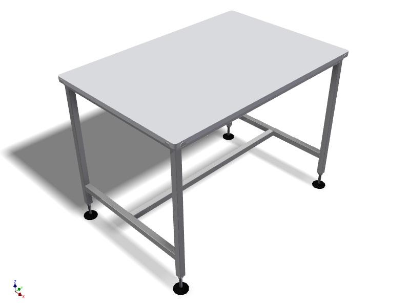 table de travail inox plateau en pe hd